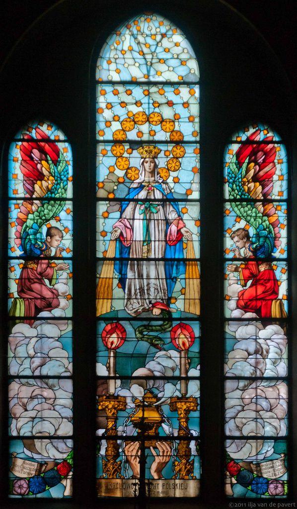 Stained Glass window of Missionary church (Kościół Księży Misjonarzy), Tarnów…