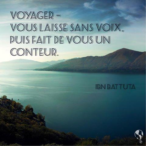 #voyager - Vous laisse sans voix. Puis fait de vous un conteur.