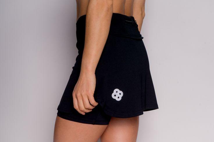 Spódniczka biegowa marki POLKA SPORT Irena czarna. spódniczki do biegania, spódniczki biegowe, spódniczka do biegania, spódniczka biegowa, running skirt