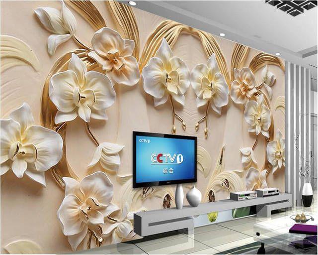 Tienda Online Papel Pintado Personalizado Beibehang 3d Phalaenopsis Alivio Pared Are Decoracion De Fondo De Pantalla Decoracion De Muros Decoracion De Pared 3d