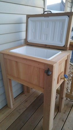 Ryobi Nation Cedar Cooler Stand Cooler Stand Wood