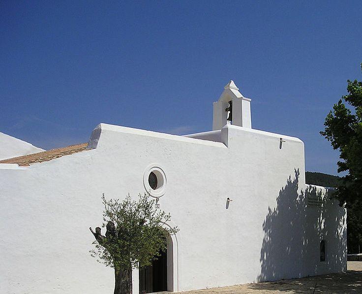 Sant Agnes church Ibiza countryside