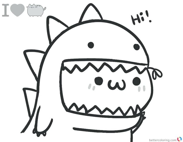 pusheen cat coloring pages photo