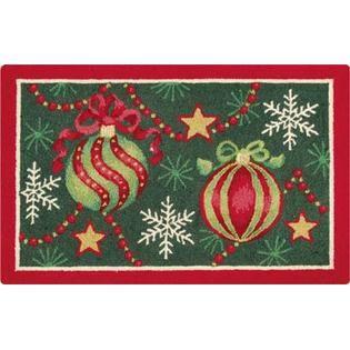 Christmas Ornaments Hooked Rug 2u0027 ...