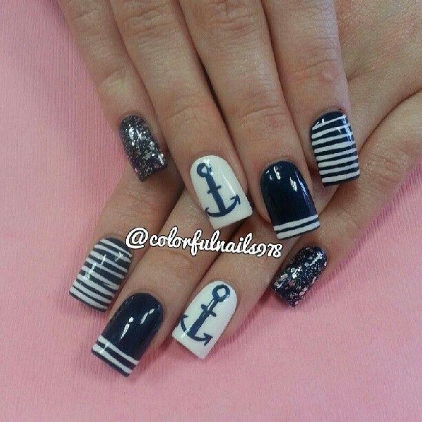 best 25 nautical nail designs ideas on pinterest