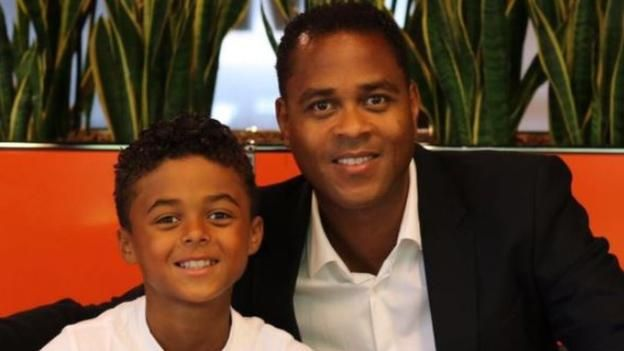 Netherlands and Barcelona legend Patrick Kluivert's nine-year-old son Shane signs a deal with sportswear giants Nike.