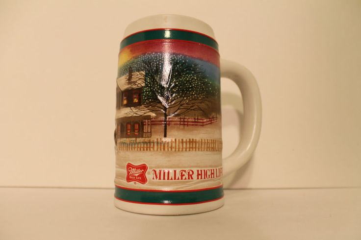 Miller High Life Holiday Traditions Beer Stein Mug Horse Drawn Sled