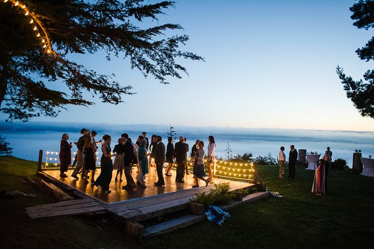 Lit dance floor overlooking the fog rolling in: lovely. Point 16, Big Sur, CA