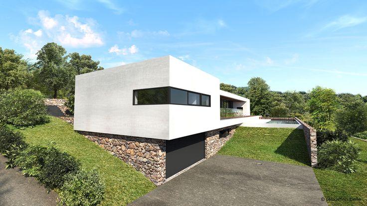 27 best House design images on Pinterest Modern homes, Modern - orientation maison sur terrain