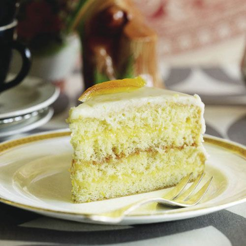 Citrus layer cake  (I can never have enough recipes for lemon cakes, bars, pies, etc..)
