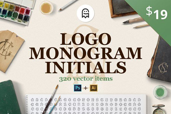 Logo Monogram Initials by Graphic Ghost on @creativemarket #graphicghost #creativemarket #shop #logo #monogram #initials #designresources #graphics #branding #branddesign #designer #graphicdesigner #art #fashion