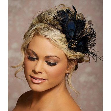 coiffes de plumes fascinator de pince à cheveux de mariage faites à la main Fascinators 047 - EUR € 24.99