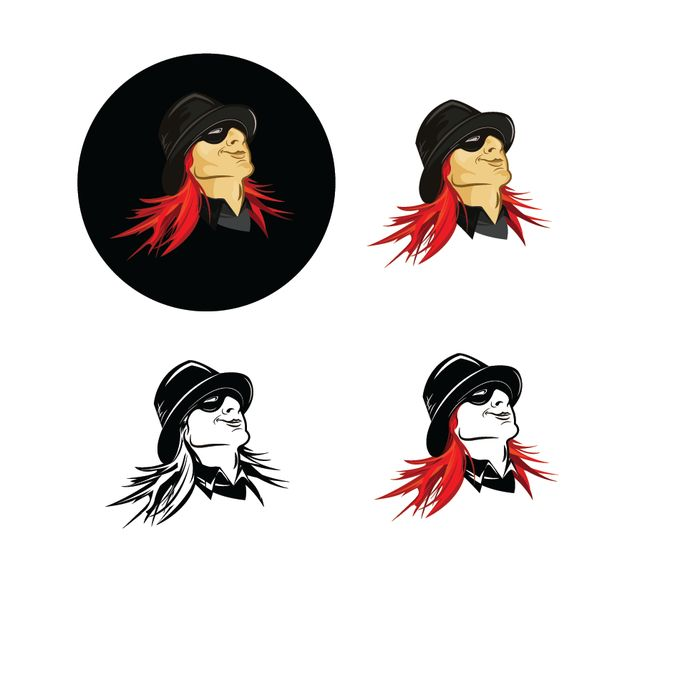 Red Headed Rebel Character Logo by Peaches0108