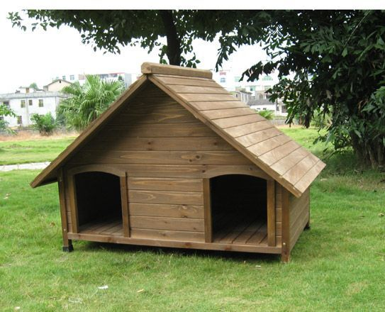Wooden dog house outdoors pinterest for Barrel dog house designs