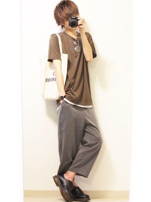 カーキTシャツ×スラックス 【サイズ】 トップス     XL インナー     XL    パンツ