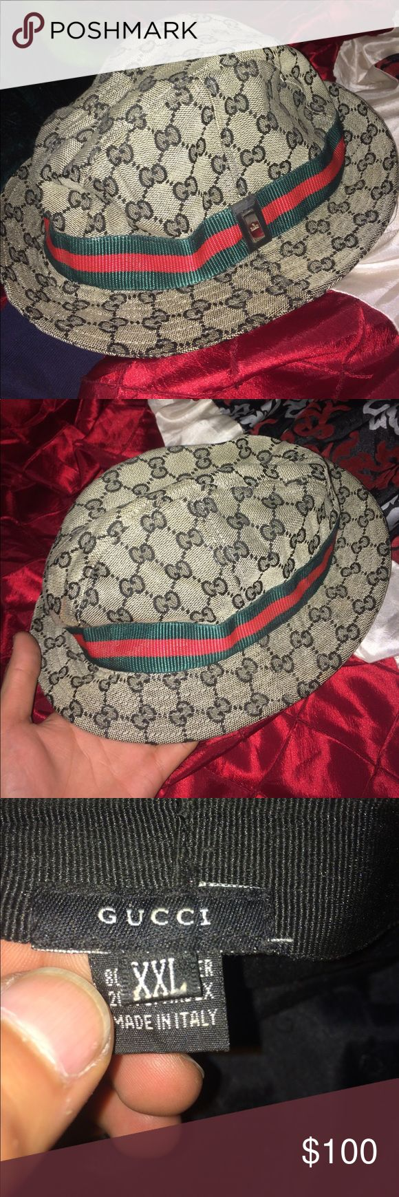 Gucci bucket hat Men's/ women's Gucci bucket hat. In great condition and very stylish says XXL but fits regular OBO Gucci Accessories Hats