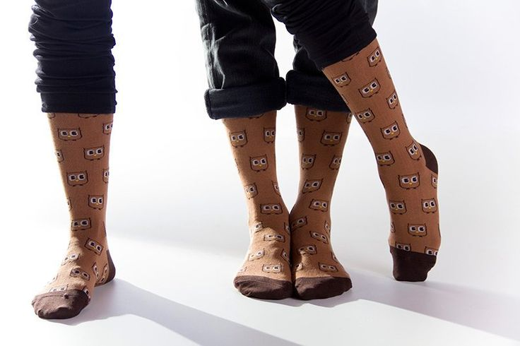 8-Bit Owl Socks