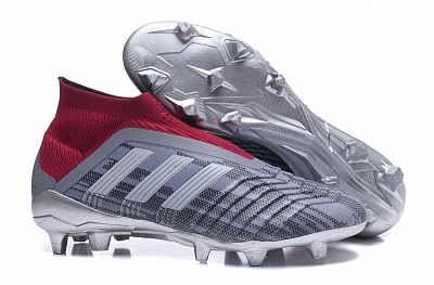 58a57e43a FIFA World Cup Russia 2018 Unisex Adidas x Paul Pogba Predator 18+ FG  Football Shoes Grey Burgundy