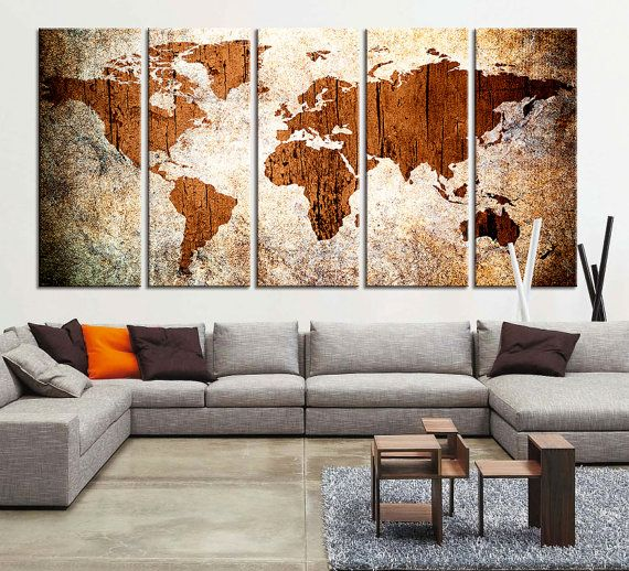 23 best carte images on pinterest world map canvas cards and ready to hangstretched on deep framearchival giclee qualityprotective varnish coating gumiabroncs Gallery