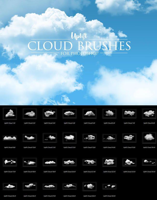 30 Cloud Photoshop Brushes   Resource Photoshop
