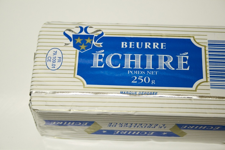 One of the best butters out there - French butter, beurre Échiré. A smear of this butter on a fresh baguette with a sprinkle of sea salt is simple yet highly sophisticated pleasure
