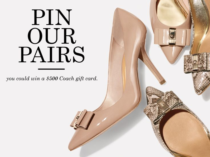 I'm pinning my favorite fall shoes from the new Coach collection for a chance to win a Gift Card! Visit their Facebook page here to enter for your chance to win: https://www.facebook.com/coach/app_428474510604326?ref=ts