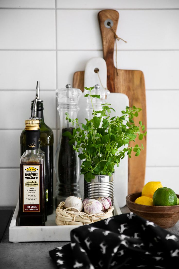 Scandinavian kitchen, marble tray More