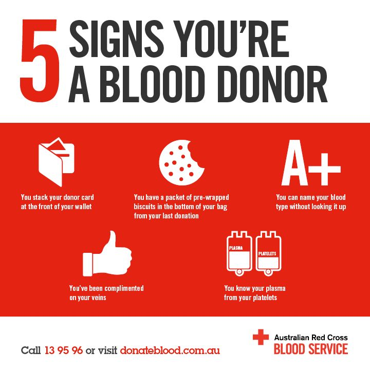 Five signs you donate blood. #bloodsaves                                                                                                                            Plus