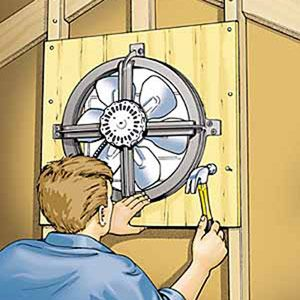 Attic Fan - it was wonderful to open the front and back doors and turn on the attic fan!