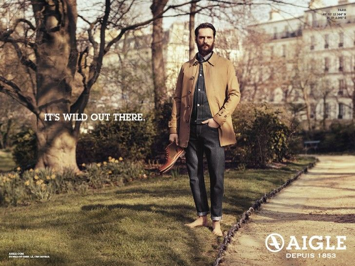 La campagne de publicité de la marque Aigle, destinée aux citadins
