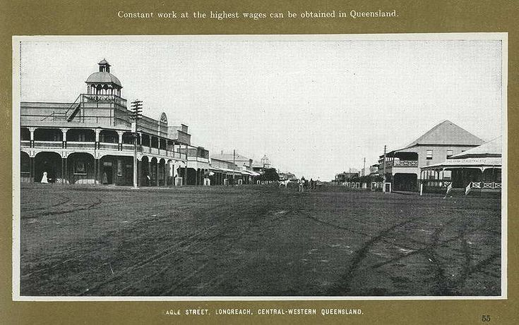 Picture of / about 'Longreach' Queensland - Commercial Hotel in Eagle Street, Longreach, ca. 1916