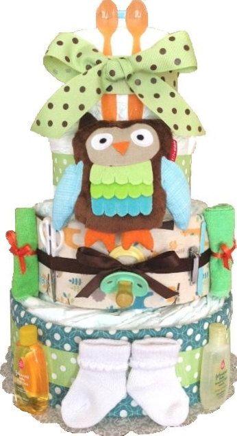 Diaper Cake. Woodland creature Baby Shower Diaper Cake. Owl Baby Shower. Baby…