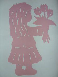 Fensterbild-Fruehling-Tonkarton-Maedchen-m-Tulpen-rosa-35-cm