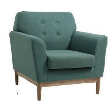 Fremont Armchair Teal by Gallery Homewares