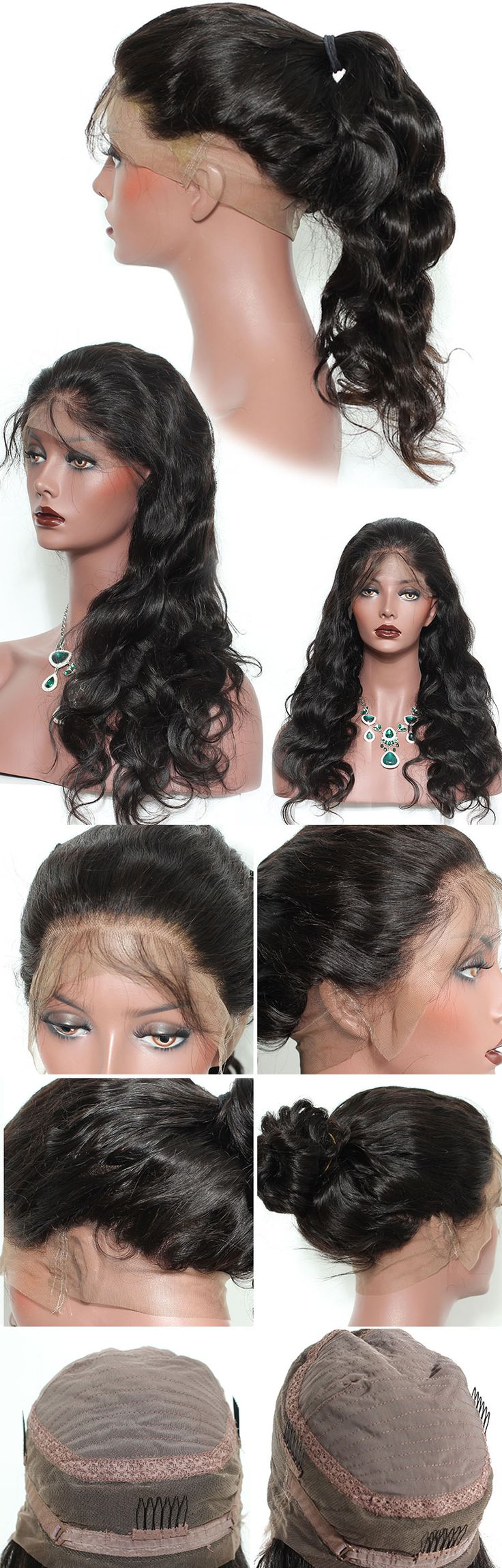 360 Lace Frontal Wigs 180% Density Brazilian Body Wave Remy Hair 100% Human Hair Wigs For Black Women Pre Plucked