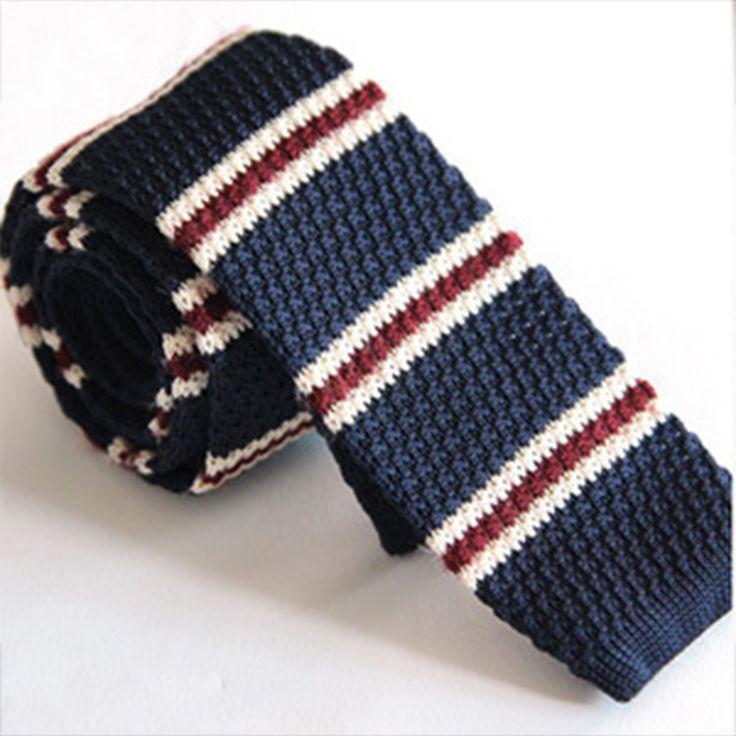 Mantieqingway Men's England Wool Knit Necktie Ties for Men 5cm Stripes Printed Skinny Knitted Neck Tie Gravatas Vestidos Cravat