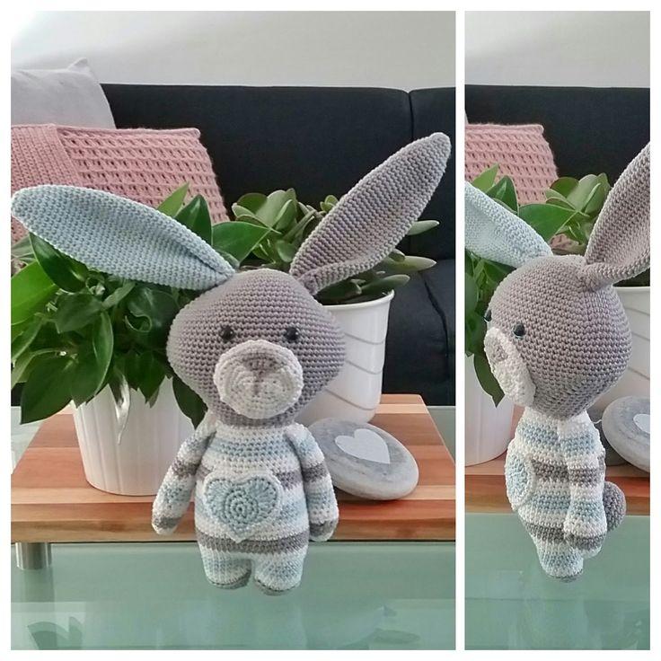haken gehaakt konijn (patroon van Poppa Poppen)