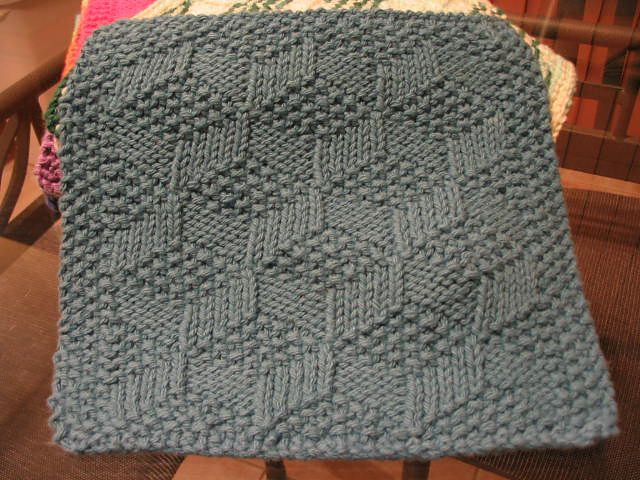 Simple Dishcloth Knitting Pattern : 14 best images about Knitted Dish Cloth Patterns on ...