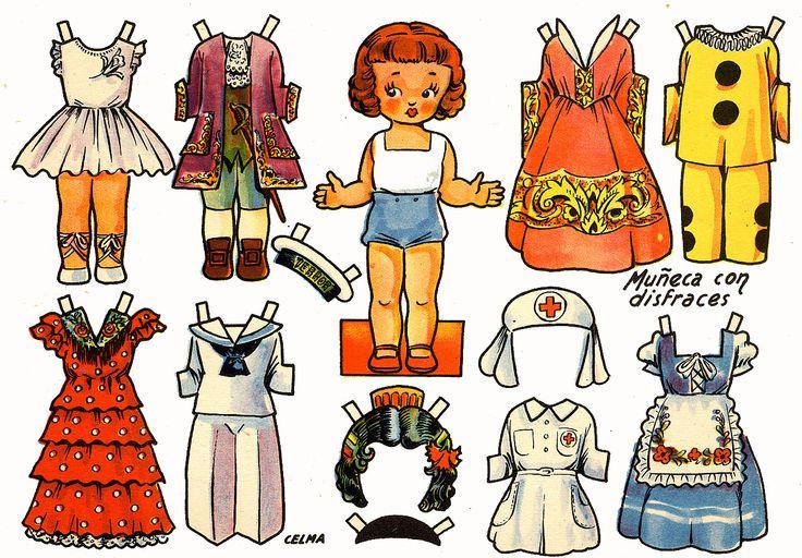 muñecas recortables, paper dolls, Бумажные куклы , bambole da carta, poupées en papier, 纸娃娃 ,: ANTIGUAS Y EDIVAS