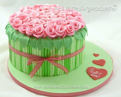 "cake.corriere: Torta ""bouquet di rose"" – Tutorial"