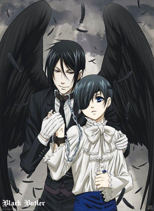 BLACK BUTLER Poster Black Butler Sebastian wings (52x38)