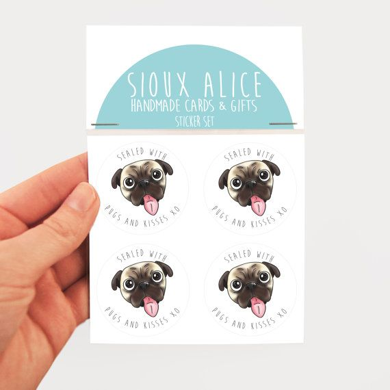 4 envelope seals set of 4 funny stickers sealed with by SiouxAlice