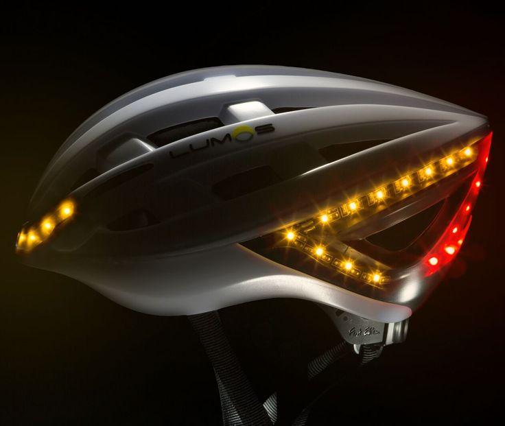 """Lumos - Fahrradhelm Vor-her-sehbar... Seien Sie """"vorhersehbar"""" ! Richtungsänderungen auch am Helm signalisieren Lumos verfügt über helle Links- und Rechts-Blinker im Helm, die über eine drahtlose Fernbedienung an Ihrem Lenker aktiviert werden können."""