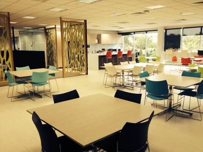 Pacific Brands | Camberwell, VIC. UCI Supplied: Curvy Chairs and Barstools from Casala, and Piono Tables uci.com.au