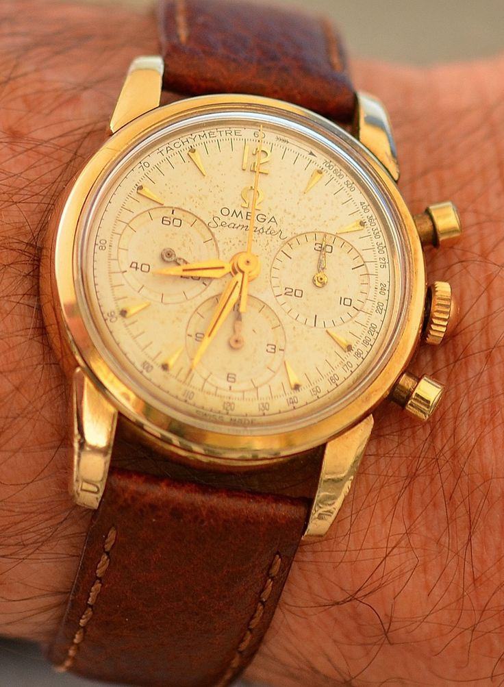 My goodness! Vintage OMEGA Seamaster Calibre 321 Chronograph In Gold-Cap Circa 1950s - http://omegaforums.net