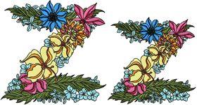 Exotic Flowers Font - Letter Z