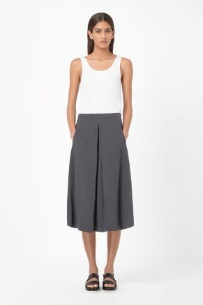 Skirt with inverted pleat