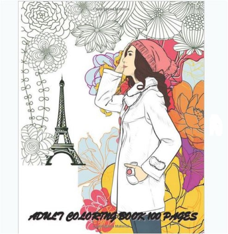 Adults Coloring Book Fashion Women Designs Stress Relief Color Fun Patterns Chic
