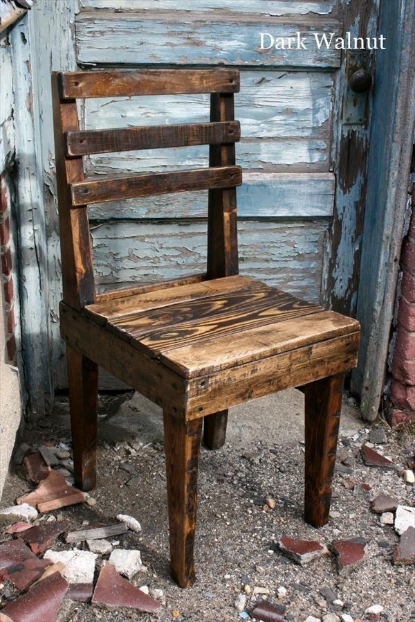 Rustic Wooden Pallet ChairsPallet Ideas  Furniture Pallet