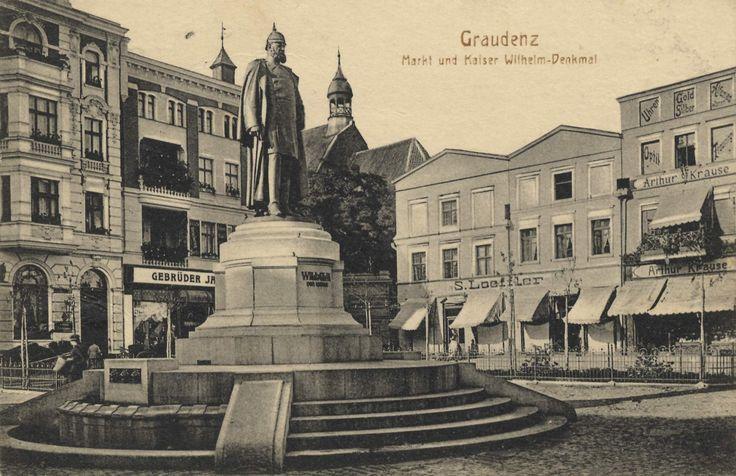 Graudenz, Westpreußen: Marktplatz und Kaiser-Wilhelm-Denkmal